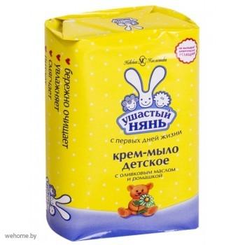 УШАСТЫЙ НЯНЬ Крем-мыло детское С оливковым маслом и экстрактом ромашки