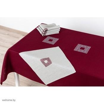 Столовый комплект  в вышивкой 143*250 6 персон