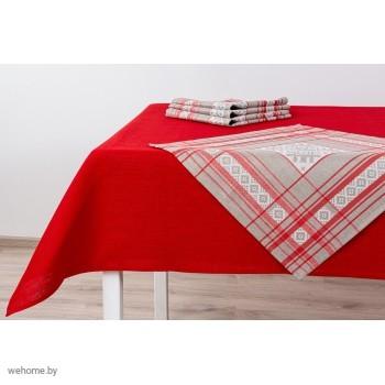 Комплект столовый красный 143*120